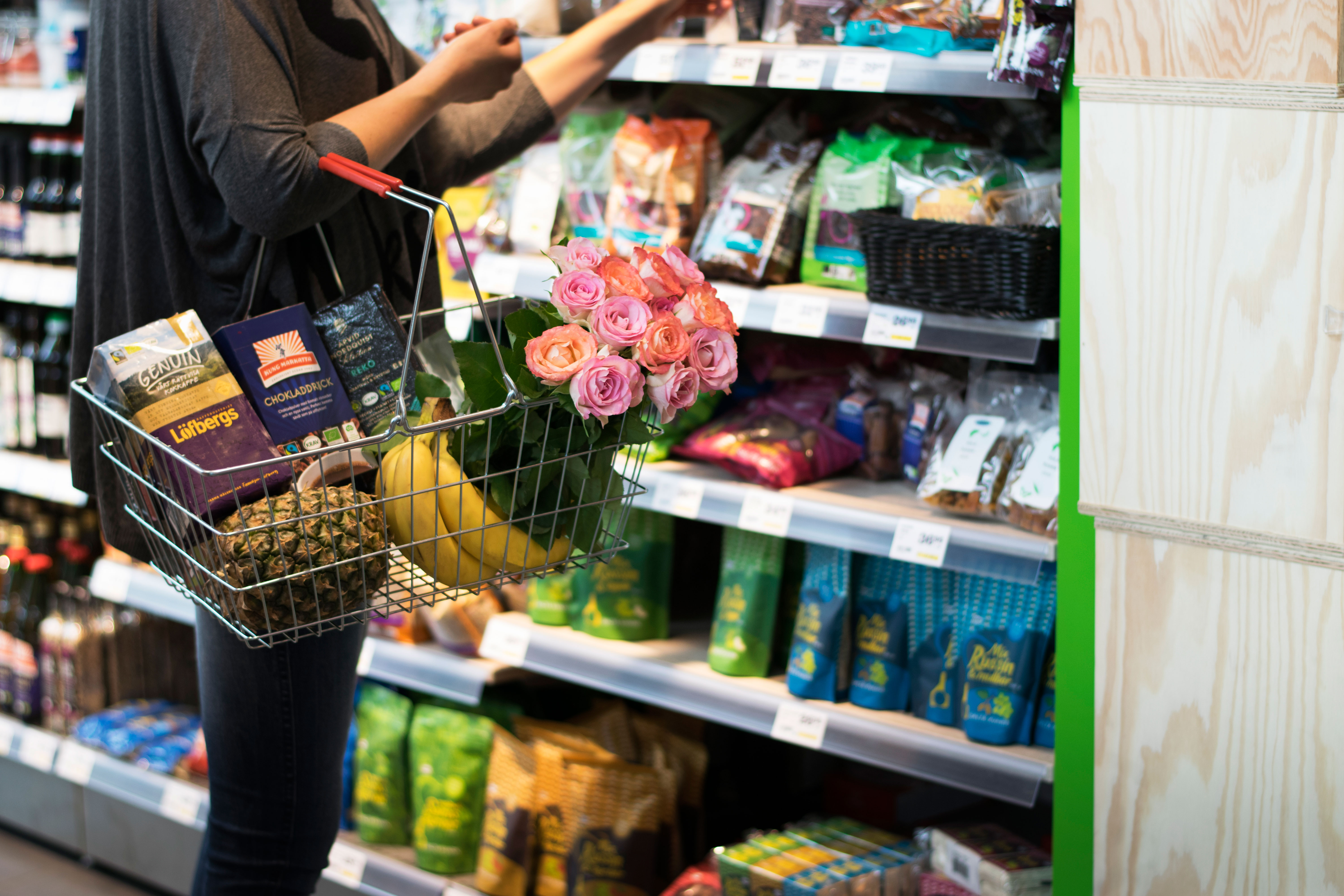 Fairtrade consumer shopping basket